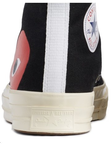 COMME des GARCONS Low-Top New-Play Converse-Chuck Taylor ' 70 High Black unisex 9