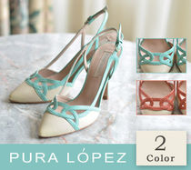 PURA LOPEZ Leather High Heel Pumps & Mules