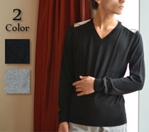 Burberry Cashmere V-Neck Long Sleeves Knits & Sweaters