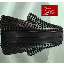 Christian Louboutin ROLLER BOAT Plain Leather Loafers & Slip-ons