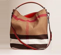 Burberry Casual Style Blended Fabrics A4 2WAY Shoulder Bags