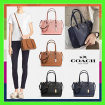 Coach 2WAY Plain Leather Shoulder Bags