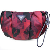 PRADA Camouflage Nylon 2WAY Party Style Clutches