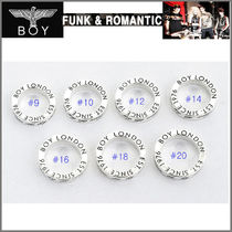 BOY LONDON Studded Metal Round Rings