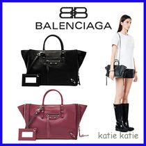 BALENCIAGA PAPIER A4 Calfskin 2WAY Plain Shoulder Bags