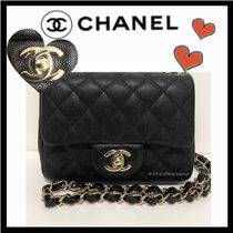 CHANEL MATELASSE Calfskin 2WAY Plain Party Style Shoulder Bags