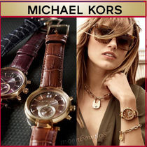 Michael Kors Leather Round Analog Watches