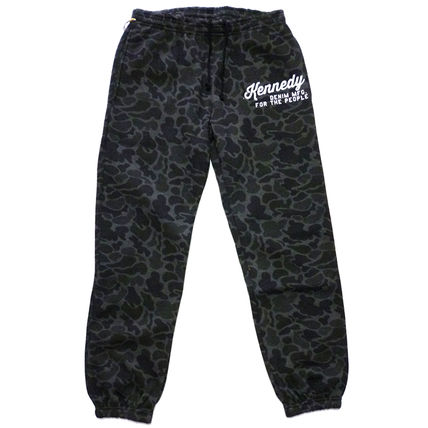 Printed Pants Camouflage Street Style Cotton Patterned Pants