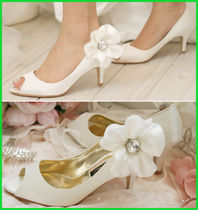 Open Toe Plain Party Style Peep Toe Pumps & Mules