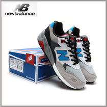 New Balance 580 Driving Shoes Faux Fur Studded Loafers & Slip-ons
