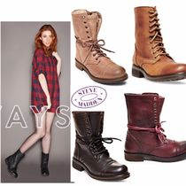 Steve Madden Lace-up Leather Lace-up Boots