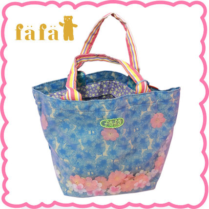 Flower Patterns Street Style Bags