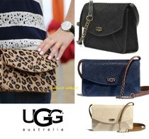 UGG Australia Street Style 2WAY Plain Leather Shoulder Bags