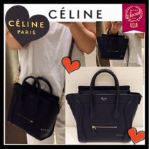 CELINE Luggage Calfskin 2WAY Plain Party Style Shoulder Bags