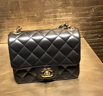 CHANEL MATELASSE Plain Leather Shoulder Bags