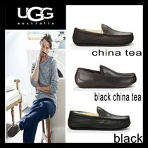 UGG Australia ASCOT Moccasin Plain Leather Loafers & Slip-ons