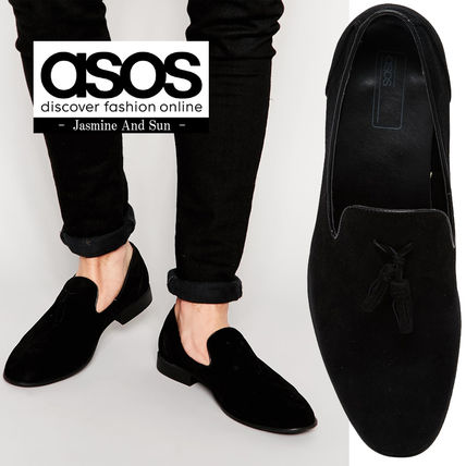 ASOS faux suede Tassel loafers