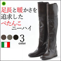 CORSOROMA9 Wedge Leather Over-the-Knee Boots