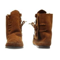 Minnetonka Suede Studded Plain Ankle & Booties Boots