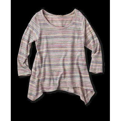 Crew Neck Stripes Long Sleeves Cotton Medium T-Shirts