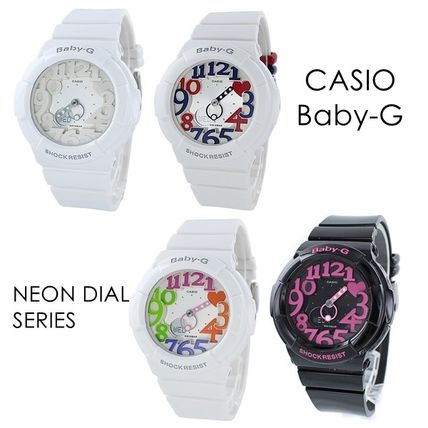 CASIO Round Formal Style  Casual Style Silicon Street Style
