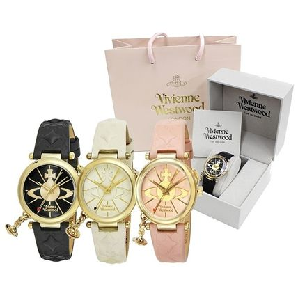 Vivienne Westwood Round Casual Style Leather Quartz Watches Analog Watches