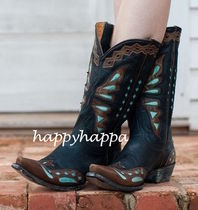 OLD GRINGO Cowboy Boots Leather Mid Heel Boots