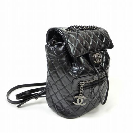 CHANEL Backpacks Unisex Calfskin Plain Purses Backpacks 3