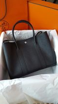 HERMES Garden Party Black/SHW Negonda Leather 36 Medium Bag