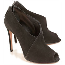 PRADA Open Toe Suede Pin Heels Ankle & Booties Boots
