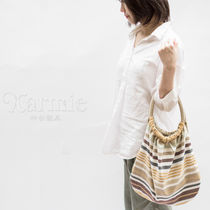 Karmie Stripes Canvas Handmade Purses Shoppers