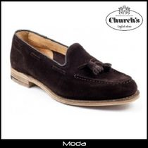 Church's Loafers Suede Tassel Plain U Tips Loafers & Slip-ons