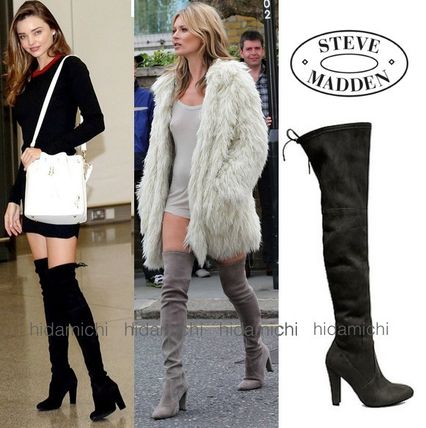 Steve Madden Faux Fur Plain Over-the-Knee Boots