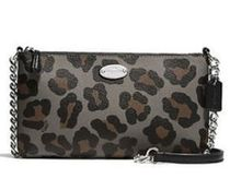 Coach Leopard Patterns Nylon Shoulder Bags