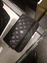 CHANEL CHAIN WALLET 3WAY Leather Party Style Elegant Style Crossbody