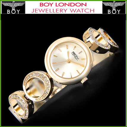 Studded Metal Round Analog Watches