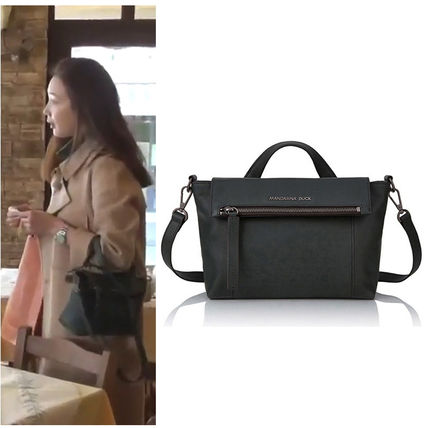 Street Style 2WAY Plain Leather Shoulder Bags