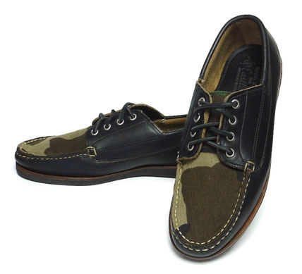 Camouflage Moccasin Collaboration Leather Loafers & Slip-ons