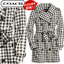 Coach Tartan Other Check Patterns Long Trench Coats
