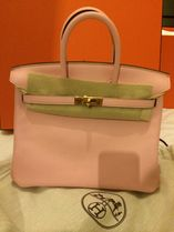 HERMES Birkin Rose Sakura/GHW Swift Leather Kelly 25 Bag