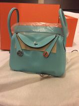 HERMES Lindy Blue Atoll/SHW Swift Leather 26 Bag