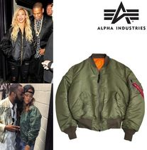 ALPHA INDUSTRIES Street Style Plain Bomber Jackets