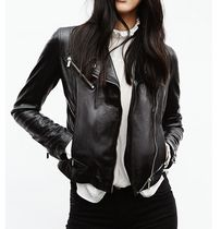 Stradivarius Plain Leather Biker Jackets