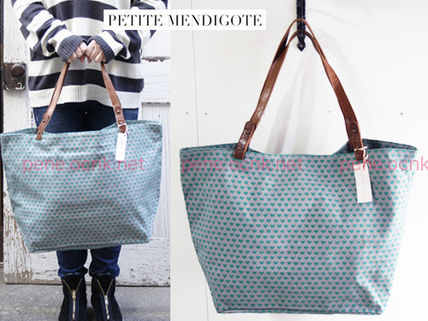 Dots Canvas Street Style A4 2WAY Totes