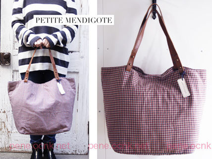 Other Check Patterns Street Style A4 2WAY Totes
