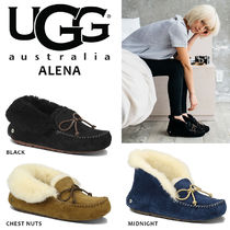 UGG Australia ALENA Fur Plain Party Style Flats