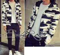 Short Zebra Patterns Camouflage Street Style Bomber Jackets