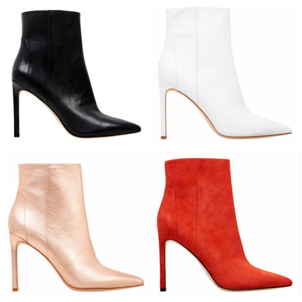 Plain Pin Heels Ankle & Booties Boots