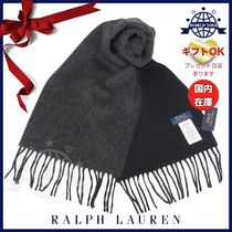 Ralph Lauren Unisex Wool Plain Scarves