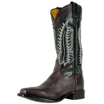 Tony Lama Cowboy Boots Square Toe Leather Mid Heel Boots